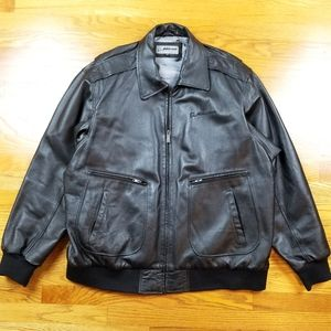 VTG Boeing McDonnell Douglas Leather Bomber Jacket